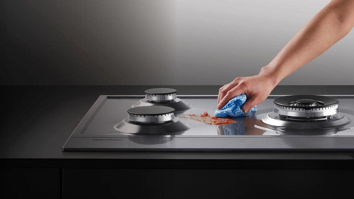 Как отмыть плиту от черных пятен фото