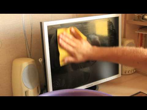 Как очистить экран от жирных пятен фото